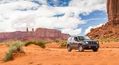������, ������: Monument Valley Utah Usa May 25 2015 Offroading Through The Monument Valley In A Jeep Patriot