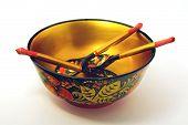 Khokhloma bowl and spoons