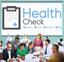 stock photo of check  - Health Check Insurance Check Up Check List Medical Concept - JPG