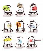 set of male avatars - bad moods