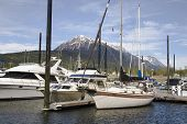 Docks And Boats In Skagway Alaska