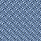 Blue Diamond Plate Metal