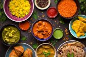 Assorted Indian Food poster
