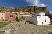 Traditional medieval era fortified village of Monemvasia at Greece