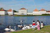 Tourists At Nymphenburg Castle