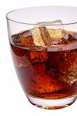 Glass Of Cola Drink With Ice (2) With Clipping Path