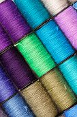 picture of lurex  - bobbins of lurex thread - JPG