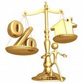 Realty desequilibrado escala percentual e casa de ouro