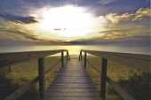 Walkway Into The Ocean Sunrise