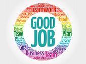 Good Job Circle Word Cloud poster