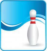 classy bowling pin background