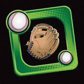 green sports box featuring baseball glove