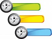 gas gauge on colored banners