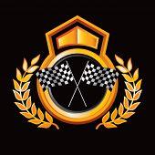 Постер, плакат: гонки клетчатые флаги на Королевский крест