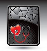 stethoscope on cracked banner
