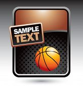 basketball on clean halftone template