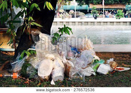 Waste Plastic Heap Garbage Plastic