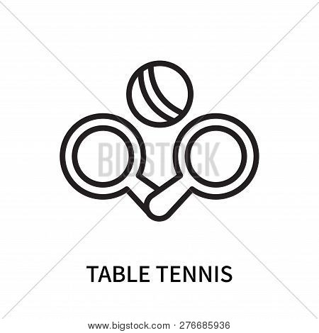 Table Tennis Icon Isolated On