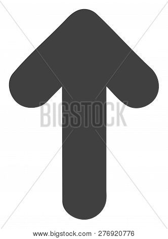poster of Arrow Up Vector Icon Symbol. Flat Pictogram Is Isolated On A White Background. Arrow Up Pictogram De