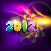 stylish colorful happy new year 2012 vector design