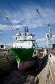 Drydocked Sea Vessel