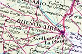 Buenos Aires on a map