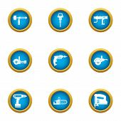 Rough Repair Icons Set. Flat Set Of 9 Rough Repair Icons For Web Isolated On White Background poster