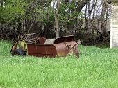 old abandoned farm machine