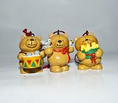three little bears stock photo