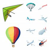 Isolated Object Of Transport And Object Icon. Collection Of Transport And Gliding  Stock Symbol For  poster