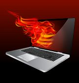 Burning Laptop