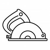 Circular Saw Icon. Outline Circular Saw Icon For Web Design Isolated On White Background poster