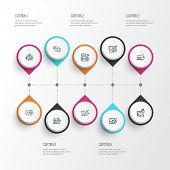 Search Icons Line Style Set With Time Planning, Website Optimization, Search Optimization And Other  poster