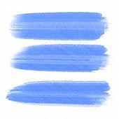 Vector Set Of Hand Drawn Brush Strokes In Horizontal Rectangular Shape For Backdrops. Colorful Artis poster