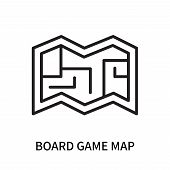 Board Game Map Icon Isolated On White Background. Board Game Map Icon Simple Sign. Board Game Map Ic poster