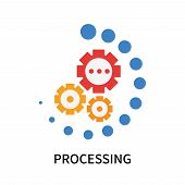 Processing Icon Isolated On White Background. Processing Icon Simple Sign. Processing Icon Trendy An poster