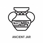 Ancient Jar Icon Isolated On White Background. Ancient Jar Icon Simple Sign. Ancient Jar Icon Trendy poster