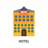 Hotel Icon Isolated On White Background. Hotel Icon Simple Sign. Hotel Icon Trendy And Modern Symbol poster