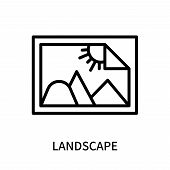 Landscape Icon Isolated On White Background. Landscape Icon Simple Sign. Landscape Icon Trendy And M poster