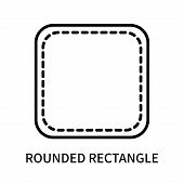 Rounded Rectangle Icon Isolated On White Background. Rounded Rectangle Icon Simple Sign. Rounded Rec poster