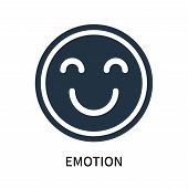Emotion Icon Isolated On White Background. Emotion Icon Simple Sign. Emotion Icon Trendy And Modern  poster