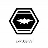 Explosive Icon Isolated On White Background. Explosive Icon Simple Sign. Explosive Icon Trendy And M poster