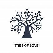 Tree Of Love Icon Isolated On White Background. Tree Of Love Icon Simple Sign. Tree Of Love Icon Tre poster