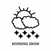 Morning Snow Icon Isolated On White Background. Morning Snow Icon Simple Sign. Morning Snow Icon Tre poster