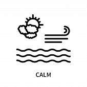 Calm Icon Isolated On White Background. Calm Icon Simple Sign. Calm Icon Trendy And Modern Symbol Fo poster