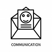 Communication Icon Isolated On White Background. Communication Icon Simple Sign. Communication Icon  poster
