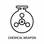 Chemical Weapon Icon Isolated On White Background. Chemical Weapon Icon Simple Sign. Chemical Weapon poster