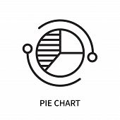 Pie Chart Icon Isolated On White Background. Pie Chart Icon Simple Sign. Pie Chart Icon Trendy And M poster