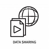Data Sharing Icon Isolated On White Background. Data Sharing Icon Simple Sign. Data Sharing Icon Tre poster