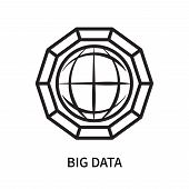 Big Data Icon Isolated On White Background. Big Data Icon Simple Sign. Big Data Icon Trendy And Mode poster